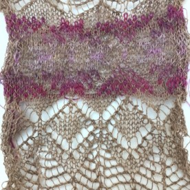 lace fairisle sample 12sept