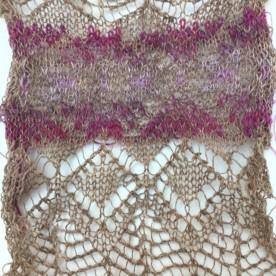 lace fairisle sample 12sept